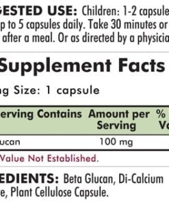 Beta Glucan (1,3-1,6) - Hypoallergenic  - 250 capsules - INGREDIENTS