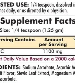 Buffered Vitamin C Powder - Flavored - Bio-Max Series - 7oz - 200 grams - INGREDIENTS