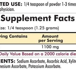 Buffered Vitamin C Powder - Unflavored - Bio-Max Series - Hypoallergenic - 7oz - 198.5 grams - INGREDIENTS