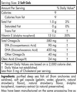 DHA Formula - Strawberry - 90 capsules - INGREDIENTS