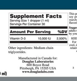 LIQUID VITAMIN D-3 - 30ml - INGREDIENTS