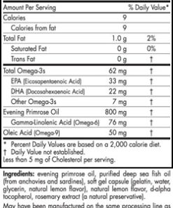 Omega Woman - Lemon - 120 capsules - INGREDIENTS