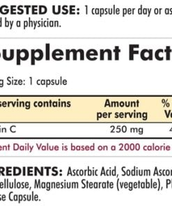 Vitamin C 250 mg - Hypoallergenic - 250 Hypoallergenic capsules - INGREDIENTS