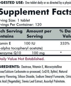 Coenzyme Q10 100 mg Chewable Tablets (with Stevia) - 120 chewables