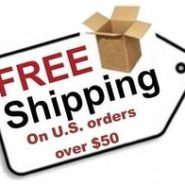 free shipping tag on U.S. orders over $50